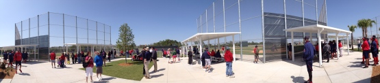 Games go on, side by side, at Fenway South.