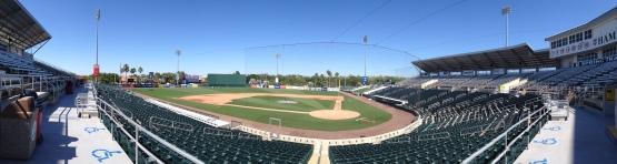 Inside Hammond Stadium, spring training home of the Twins.