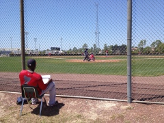 De La Rosa worked the middle innings with pencil and pitching chart in hand.